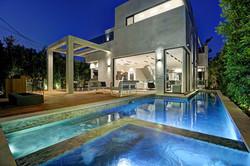 Modern Pool & Spa in Cubistic Home
