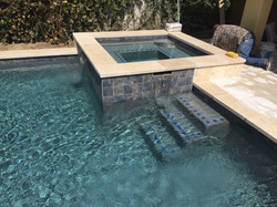 Pebbled Pool with Raised Spa