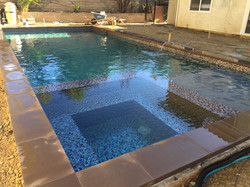 Pebbled Pool and Spa