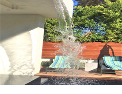 Dramatic Water Feature Pool & Spa