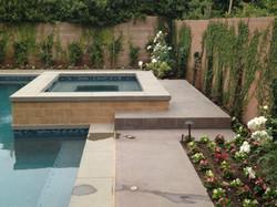 Raised Tiled Spa