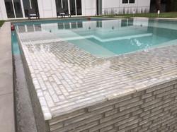 Modern Tiled Spa and Pool Edge