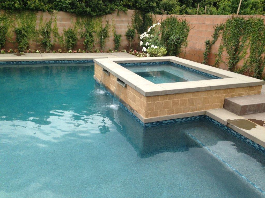 Water Feature from Spa to Pool