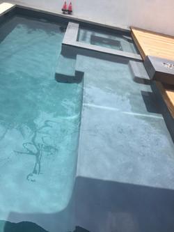 Sunken Spa with Baja Step