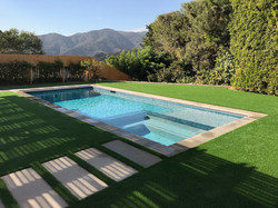 New pool & spa in Brentwood, LA