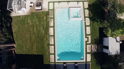 Tiled Pool with Surround Pavers