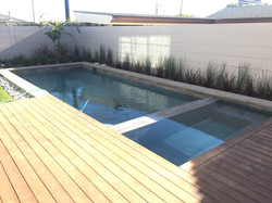 New Pool & Spa with Wooden Deck