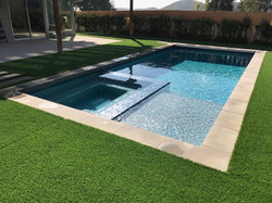 Pebble in new pool and Spa - Brentwood