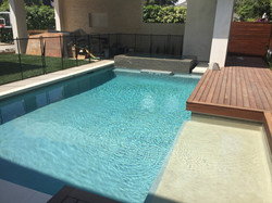 Pool with Water Fountain & Decking