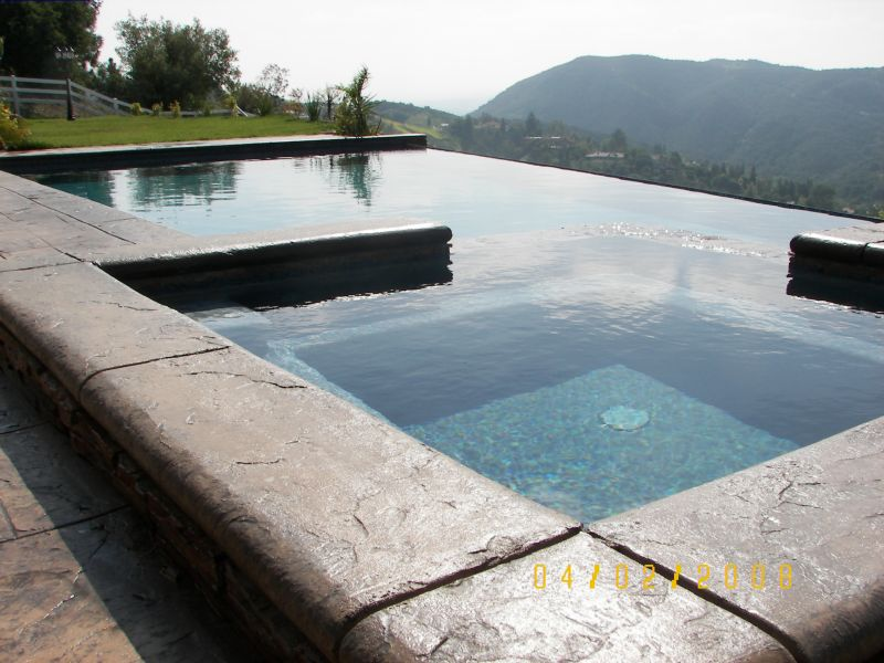 Infinity & Rock Masonry Pool