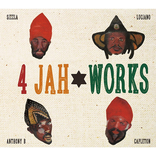 JAH WORKS【 4 JAH WORKS -DUB PLATE COLLECTION- Only Sizzla, Luciano, Capleton & A