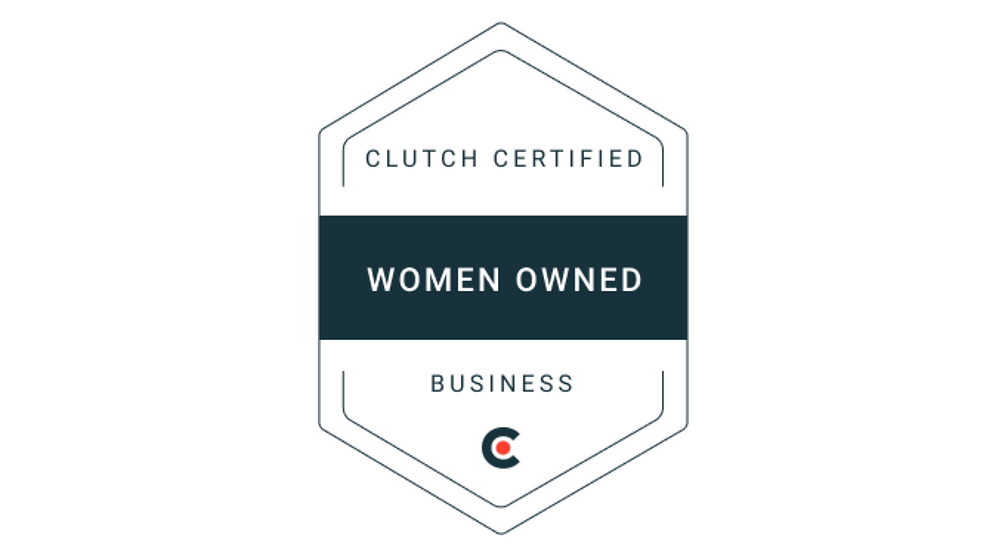 Women Owned Clutch Certified Business badge icon