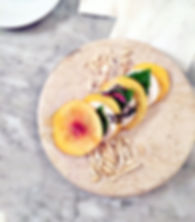 Peach Caprese with nut cheese