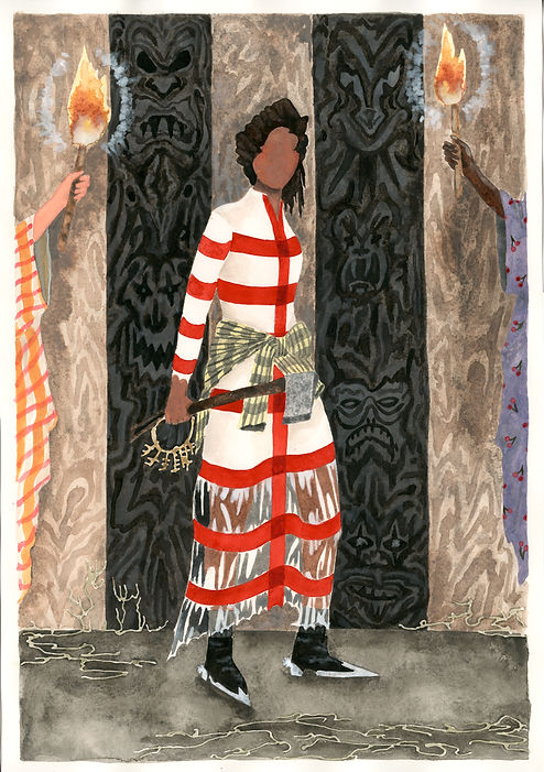 """Night Raider"" watercolor painting by Keri Oldham"