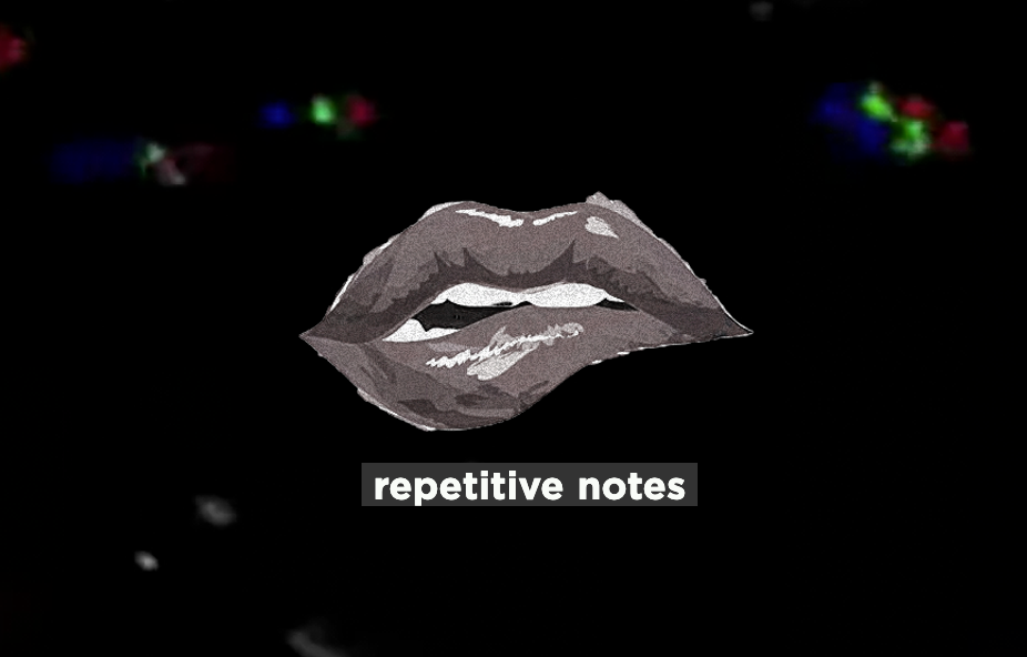 Repetitive Notes Cover Artwork - a gathering of Artists expressing their pandemic feelings November 2020
