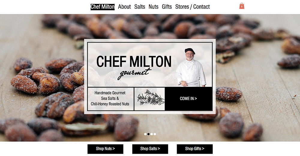 Chef Milton Website Development and Design by Lovage