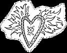 Flaming Heart Drawing