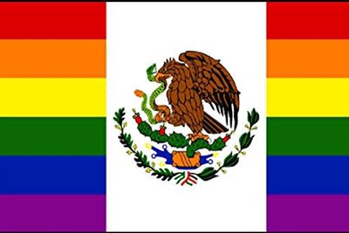 Rainbow Mexian Flag
