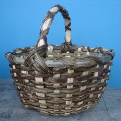 basket made from blackberry stems