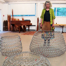 Large Looped Wire bowls