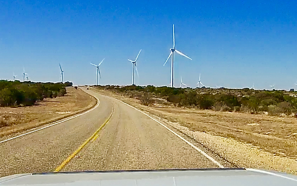 Windmill farm just outside Del Rio