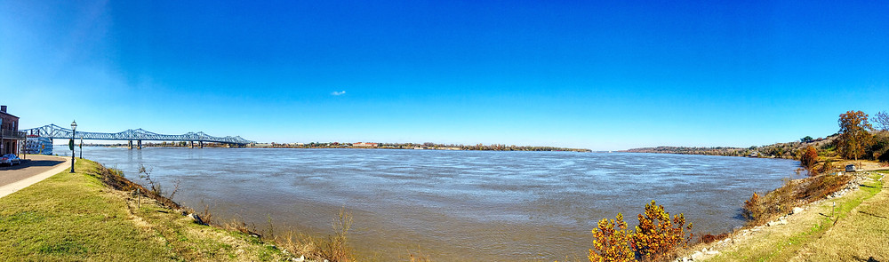 Mississippi as viewed from the waterfront in Natchez MS