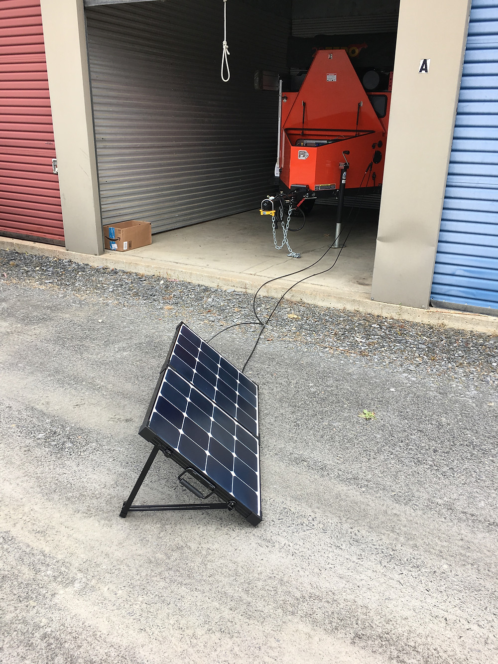 Our Turtleback trailer getting charged