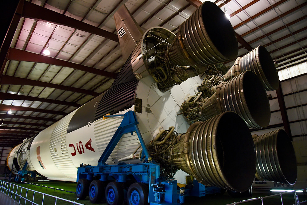 Saturn V, 1st Stage, F1 engine nozzles