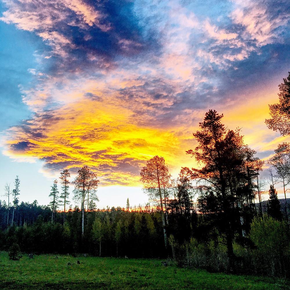 Sunset over Ashley National Forest, Utah