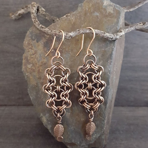 """Bicycle Chain"" Chainmaille Earrings"