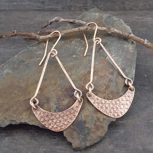 Textured Curve Swing Earrings