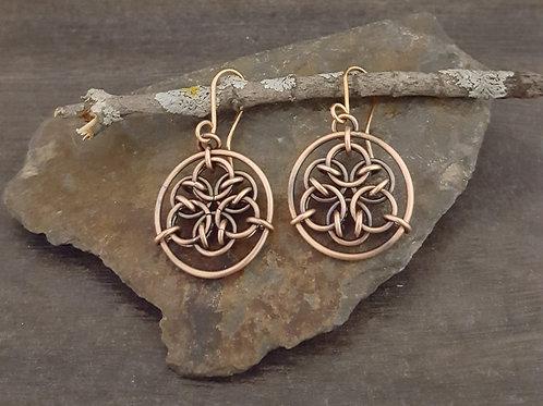 """Acute Mandala"" Chainmaille Earrings"
