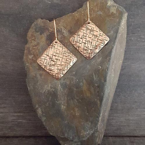 Textured Diamond Earrings