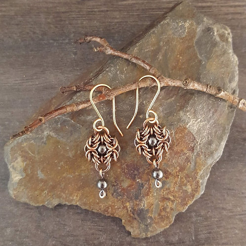 Hematite Romanov Earrings