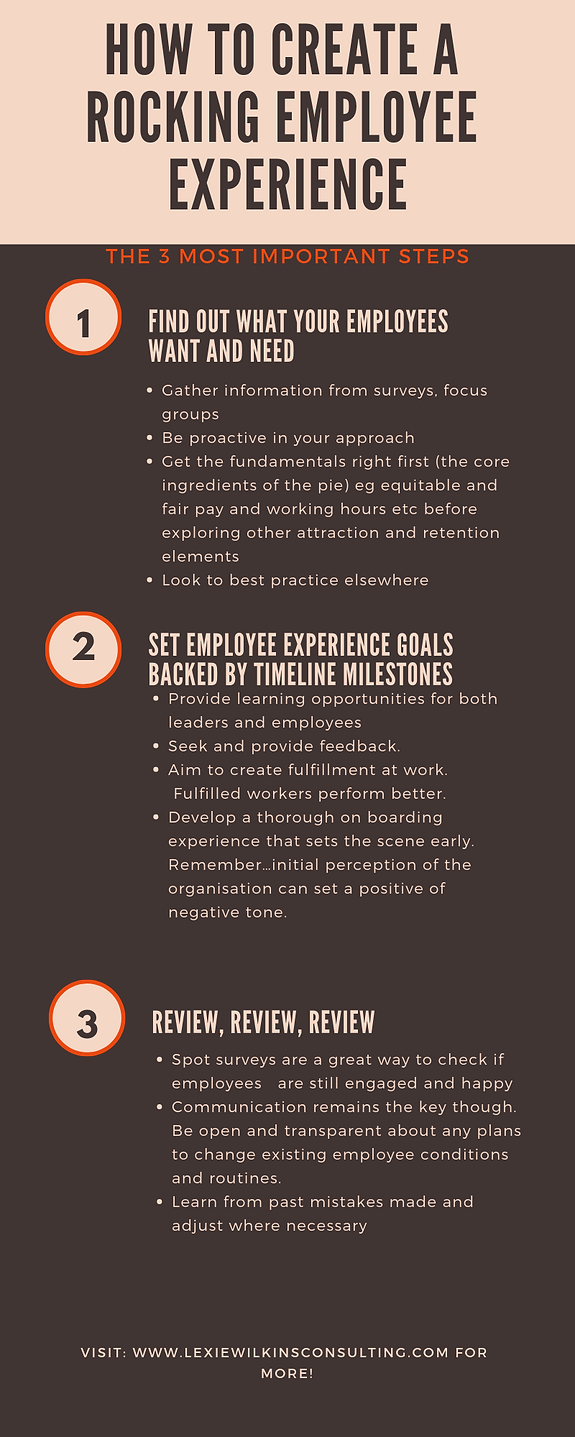 How to create a rocking employee experie