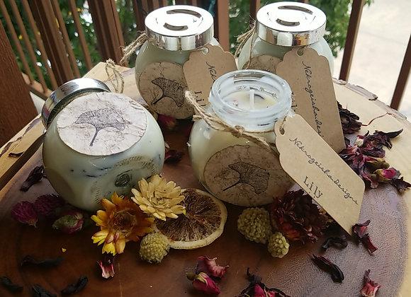 Floral Jar Candle