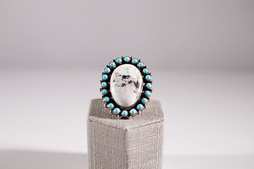 White Buffalo | Carico Lake Turquoise | Statement Ring