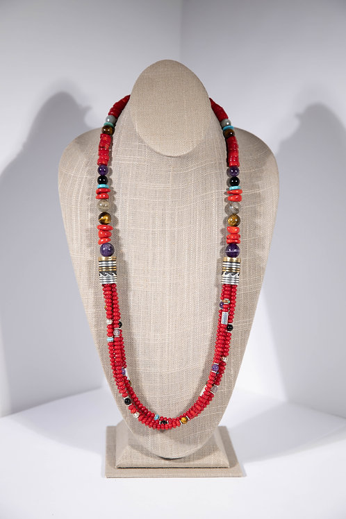 Tommy Singer Red Jade Necklace