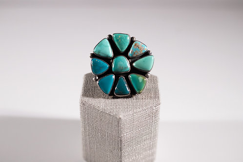 Carico Lake Turquoise   Cluster Ring