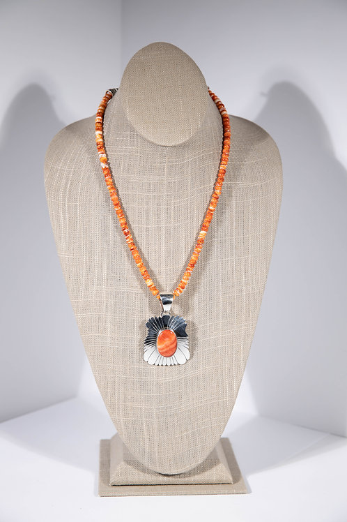 Orange Spiny Oyster Necklace