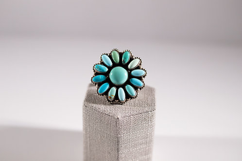 Carico Lake Turquoise | Cluster Ring