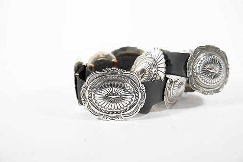 Native American Sterling Silver Concho Belt