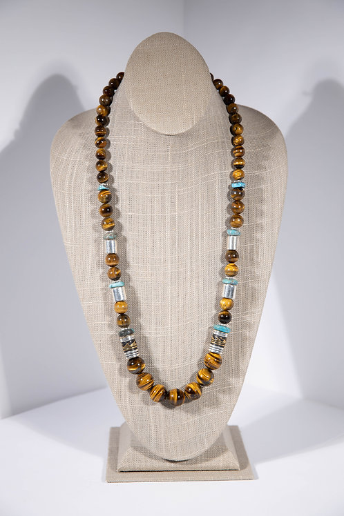 Tommy Singer Tiger Eye Necklace