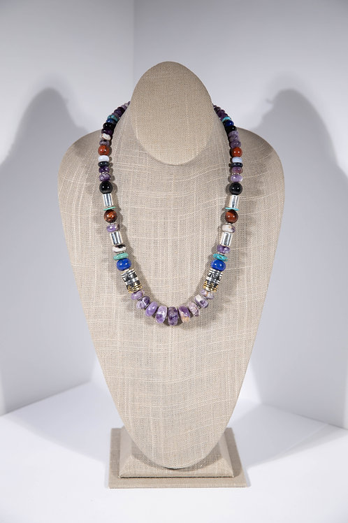 Tommy Singer Purple Agate Necklace