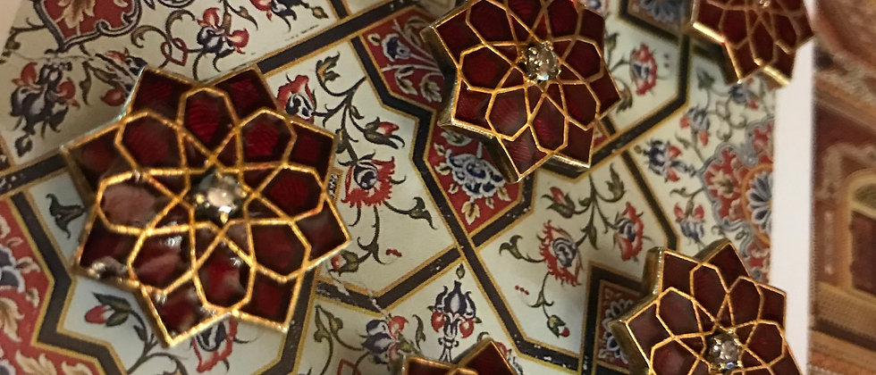 The Red Mughal Buttons, Cuffs & Cufflinks