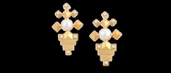 Kajal Earring Gold Ruby