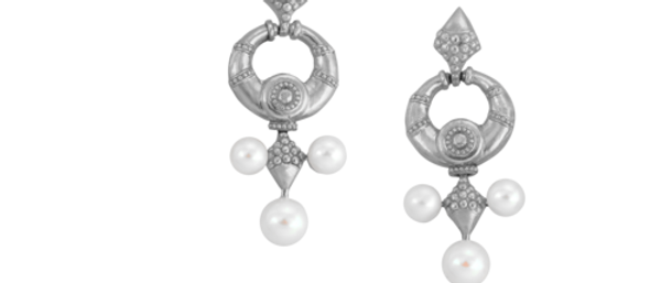 Nainika Earrings Silver