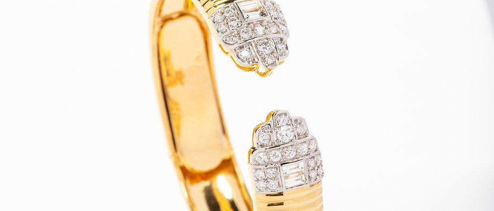 Mathematical Decoration 18kt Yellow gold Bracelet set with diamonds