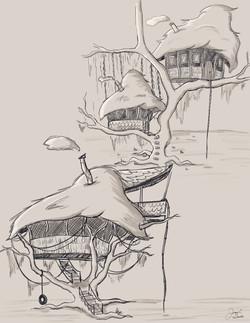 Hut Concept Sketches