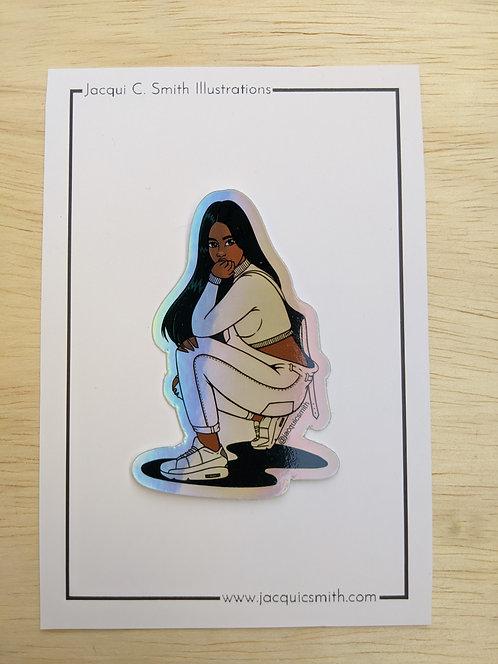 Selena Hologram Sticker